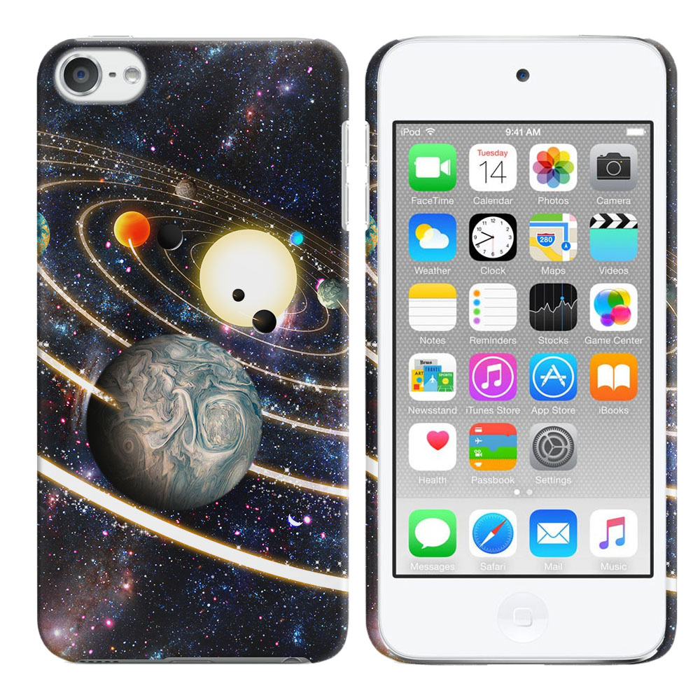 Apple iPod Touch 6 (6th Generation) Rings of Solar System Back Cover Case