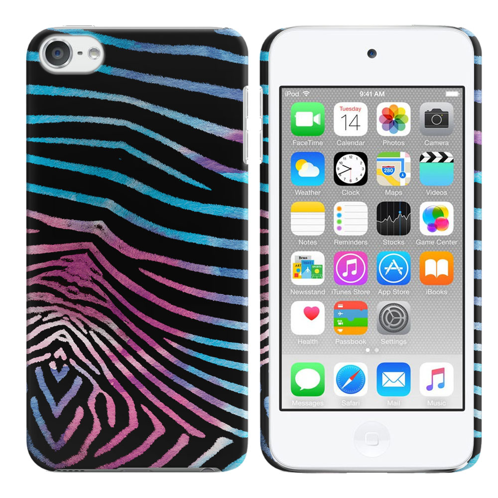 Apple iPod Touch 6 (6th Generation) Zebra Stripes Black Back Cover Case