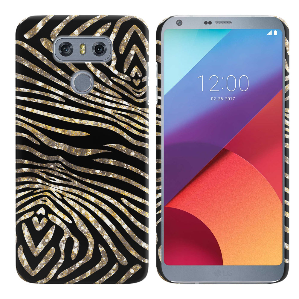 LG G6 H870 Zebra Stripes Gold Back Cover Case