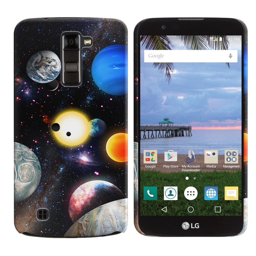 LG K10 Premier LTE L62VL L61AL K428 K430 K420 K420N Planet Solar System 2 Back Cover Case