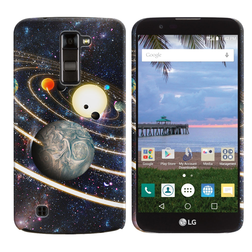 LG K10 Premier LTE L62VL L61AL K428 K430 K420 K420N Rings of Solar System Back Cover Case