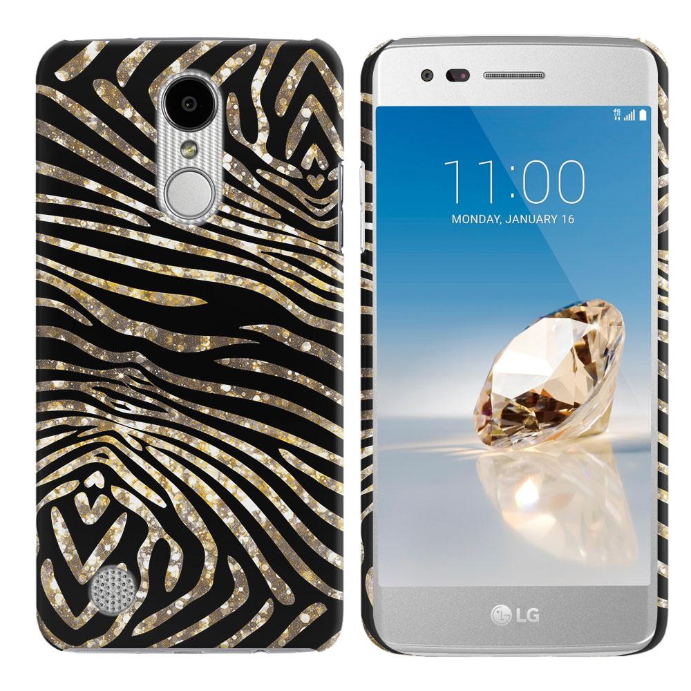 LG Aristo MS210 LV3 K8 (2017)/ Phoenix 3 M150 Zebra Stripes Gold Back Cover Case