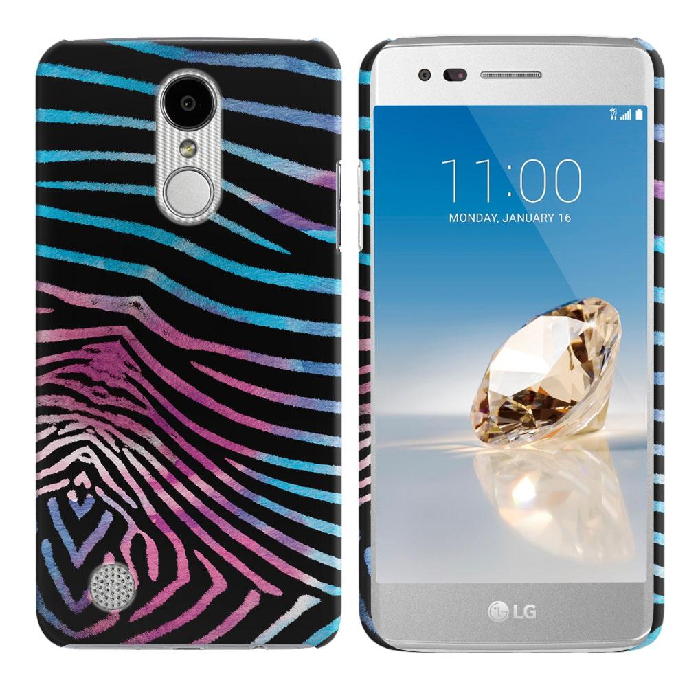 LG Aristo MS210 LV3 K8 (2017)/ Phoenix 3 M150 Zebra Stripes Black Back Cover Case