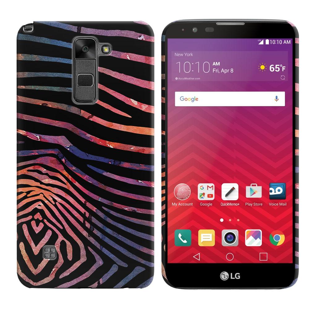 LG Stylus 2 LS775 K520 Stylo 2 Zebra Stripes Dusk Back Cover Case