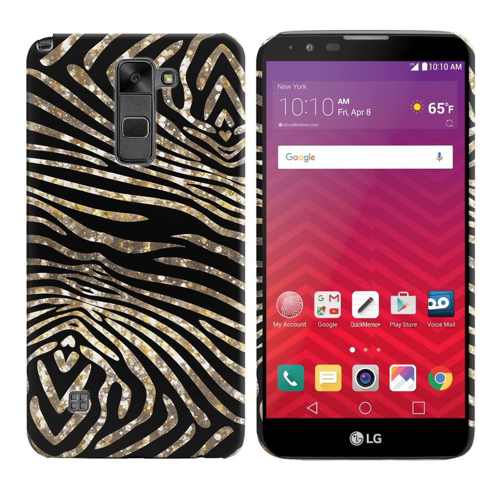 LG Stylus 2 LS775 K520 Stylo 2 Zebra Stripes Gold Back Cover Case