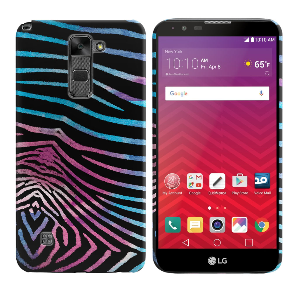 LG Stylus 2 LS775 K520 Stylo 2 Zebra Stripes Black Back Cover Case