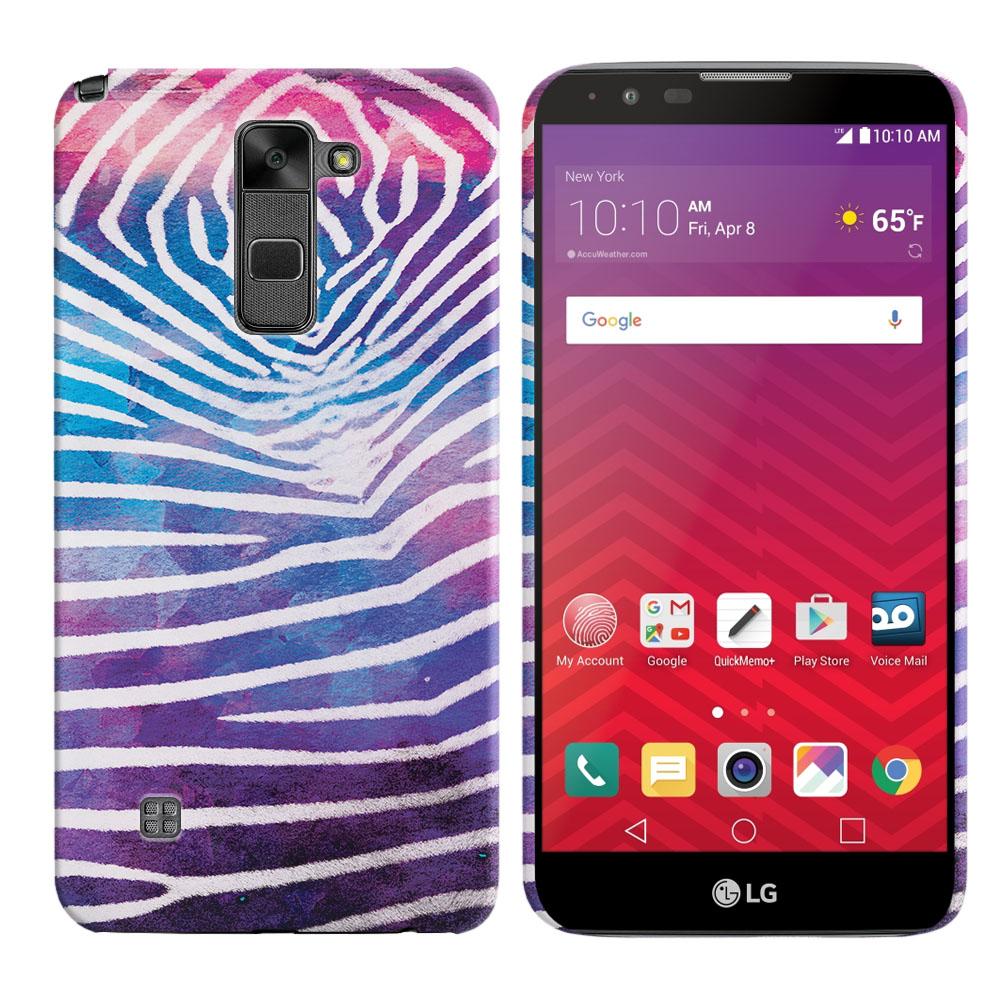 LG Stylus 2 LS775 K520 Stylo 2 Zebra Stripes White Back Cover Case