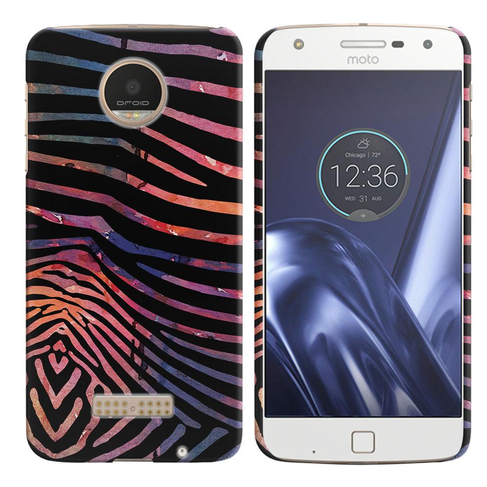 Motorola Moto Z Play Droid XT1635 Zebra Stripes Dusk Back Cover Case