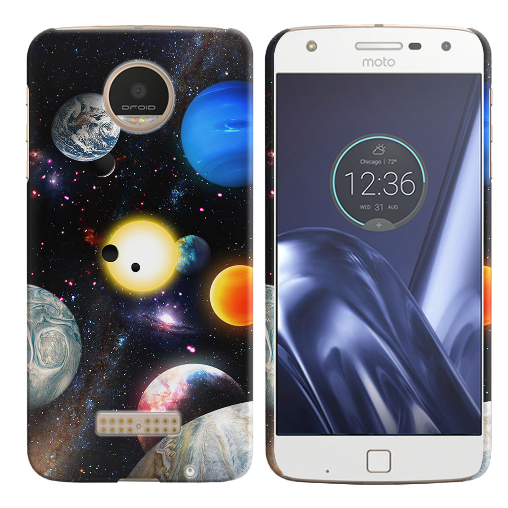 Motorola Moto Z Play Droid XT1635 Planet Solar System 2 Back Cover Case