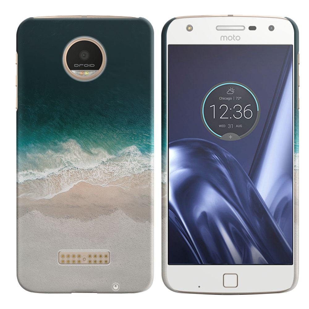 Motorola Moto Z Play Droid XT1635 Sandy Beach Back Cover Case
