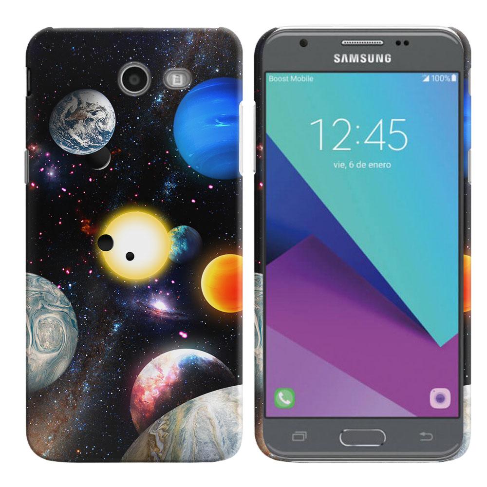 Samsung Galaxy J3 Emerge J327 2017 2nd Gen Planet Solar System 2 Back Cover Case