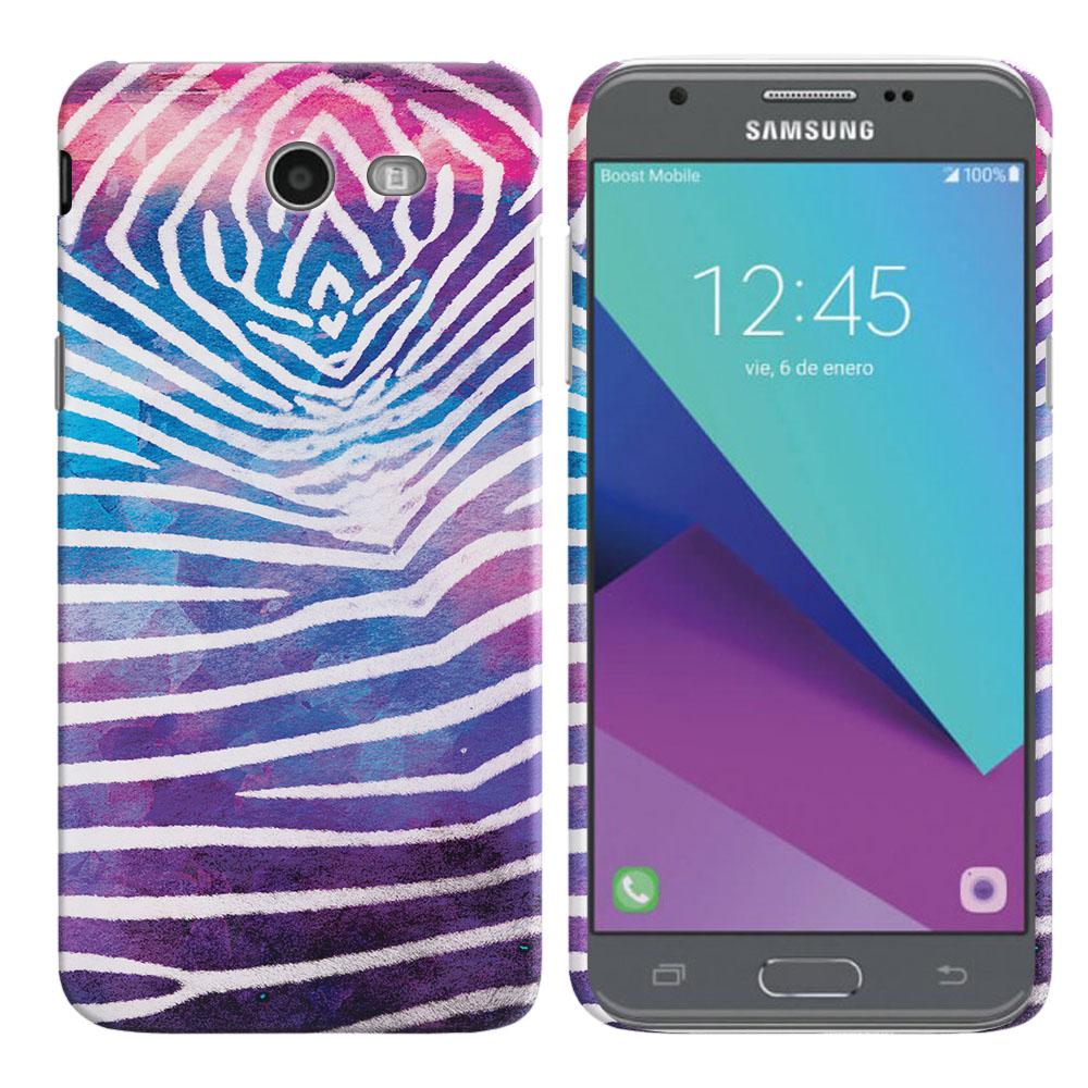 Samsung Galaxy J3 Emerge J327 2017 2nd Gen Zebra Stripes White Back Cover Case