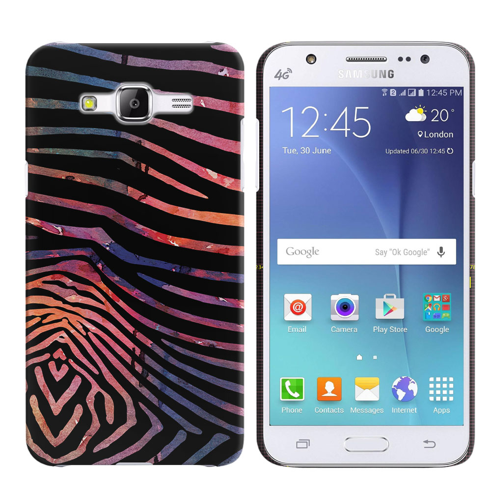 Samsung Galaxy J5 J500 Zebra Stripes Dusk Back Cover Case