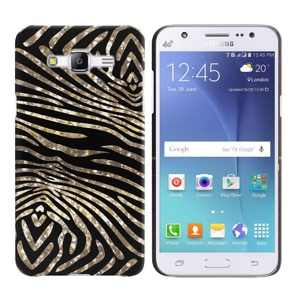 Samsung Galaxy J5 J500 Zebra Stripes Gold Back Cover Case