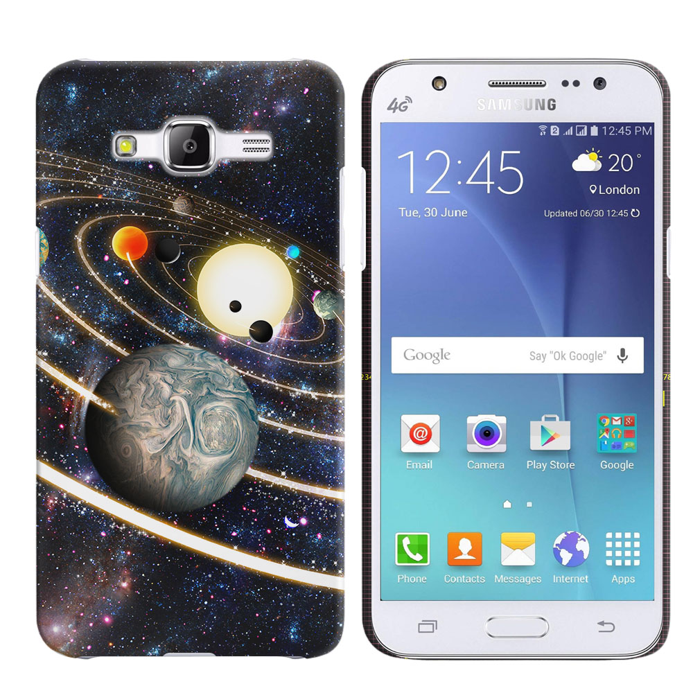 Samsung Galaxy J5 J500 Rings of Solar System Back Cover Case