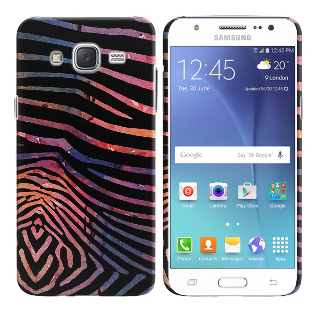Samsung Galaxy J7 J700 Zebra Stripes Dusk Back Cover Case