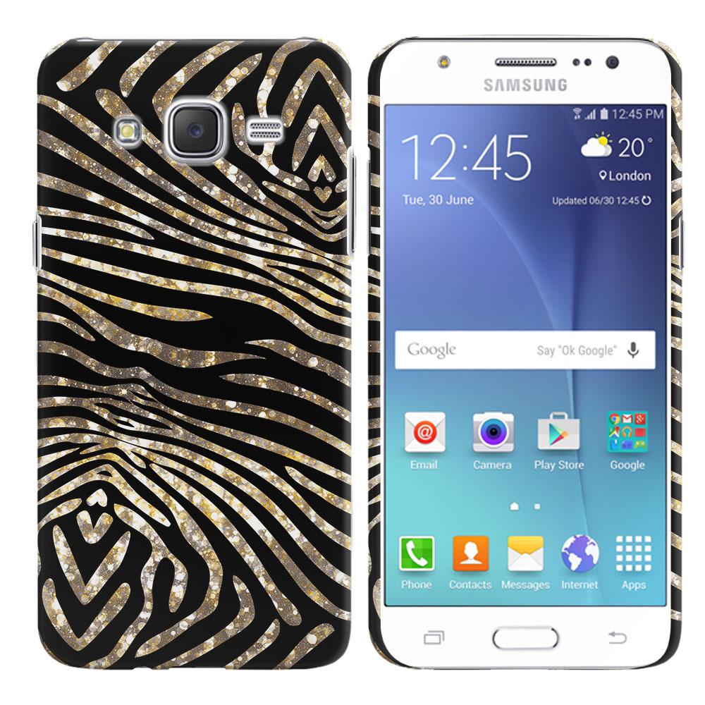 Samsung Galaxy J7 J700 Zebra Stripes Gold Back Cover Case