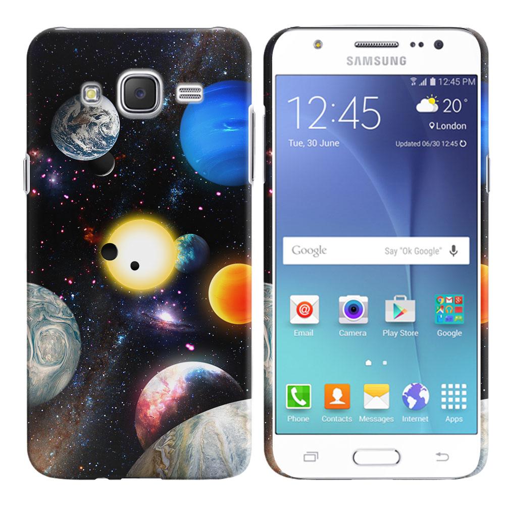 Samsung Galaxy J7 J700 Planet Solar System 2 Back Cover Case