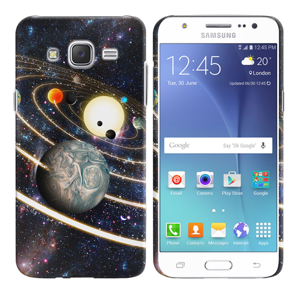 Samsung Galaxy J7 J700 Rings of Solar System Back Cover Case