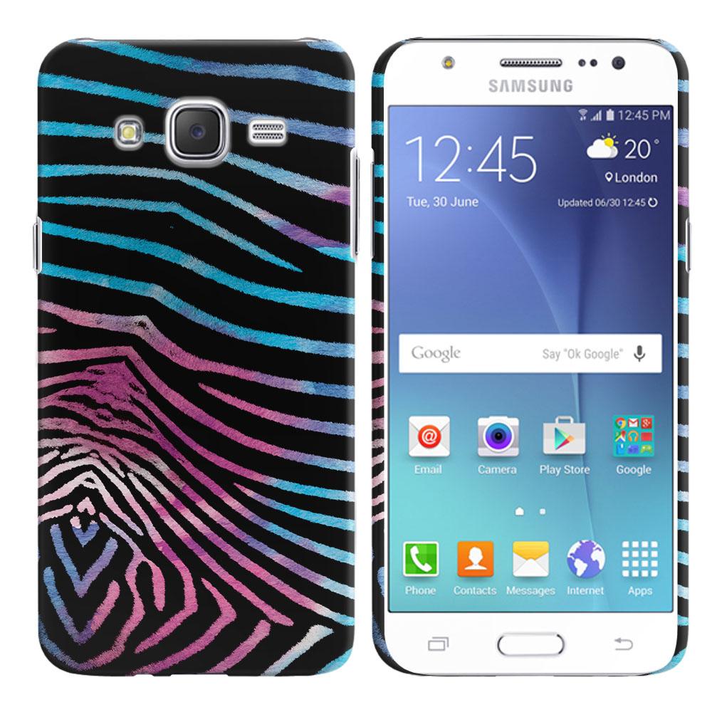 Samsung Galaxy J7 J700 Zebra Stripes Black Back Cover Case