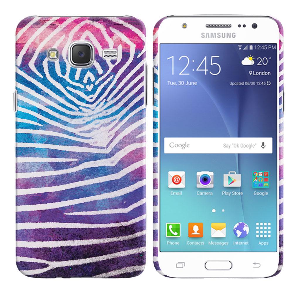 Samsung Galaxy J7 J700 Zebra Stripes White Back Cover Case