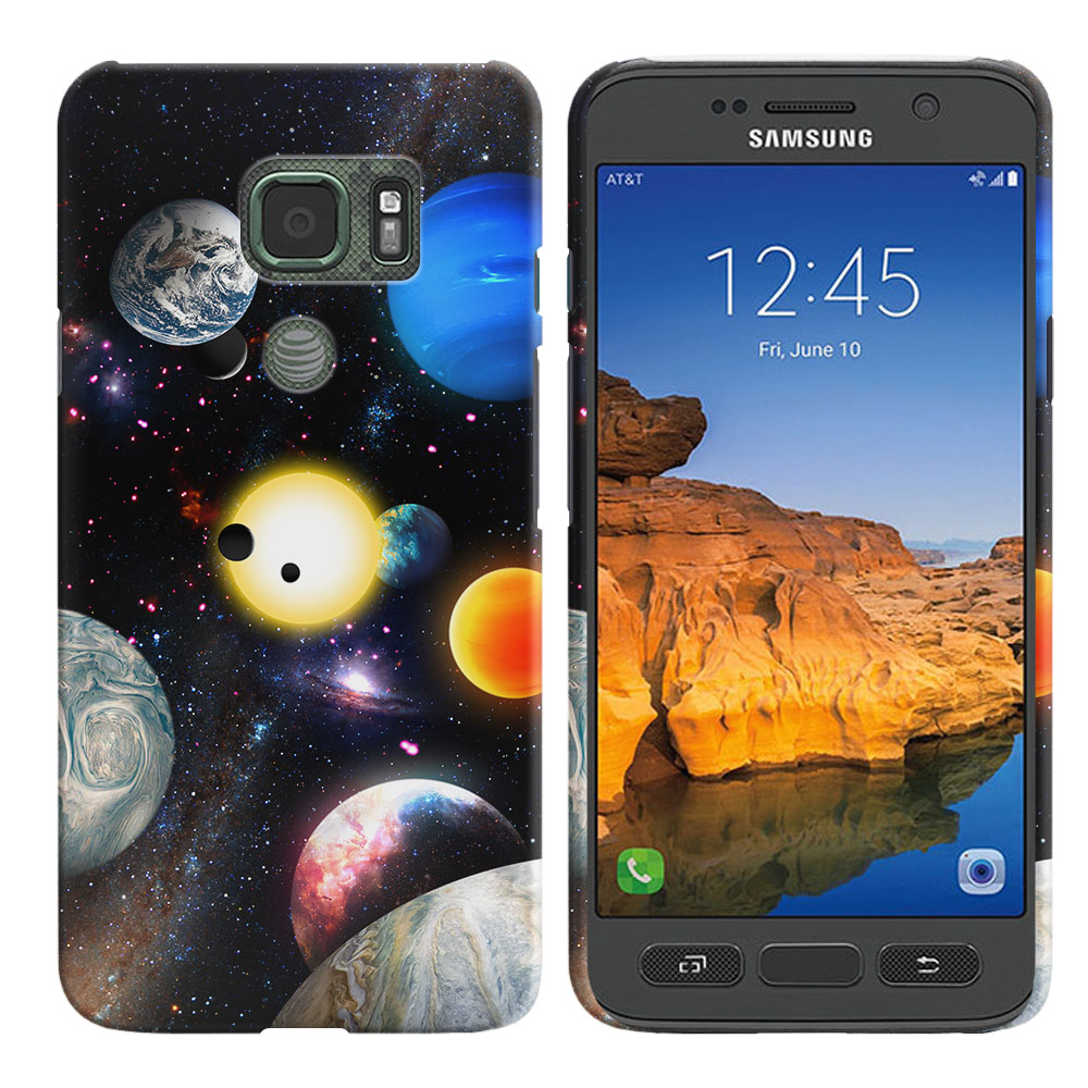 Samsung Galaxy S7 Active G891 Planet Solar System 2 Back Cover Case