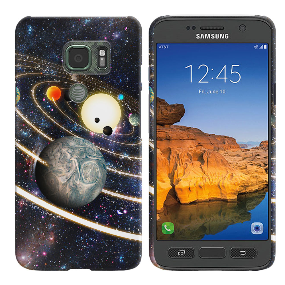 Samsung Galaxy S7 Active G891 Rings of Solar System Back Cover Case