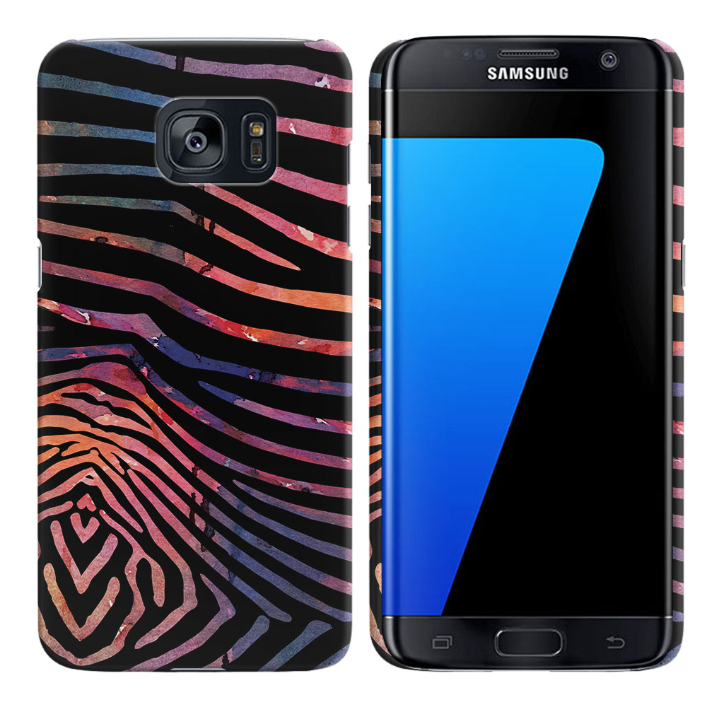 Samsung Galaxy S7 Edge G935 Zebra Stripes Dusk Back Cover Case