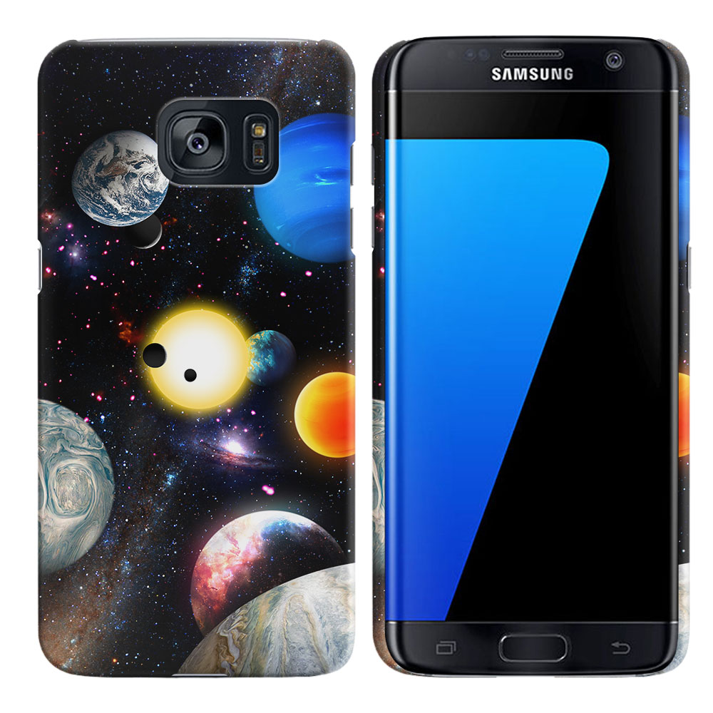 Samsung Galaxy S7 Edge G935 Planet Solar System 2 Back Cover Case
