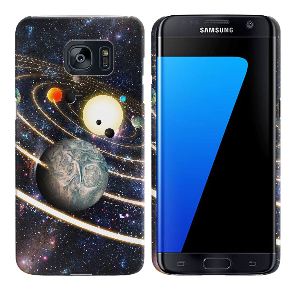 Samsung Galaxy S7 Edge G935 Rings of Solar System Back Cover Case