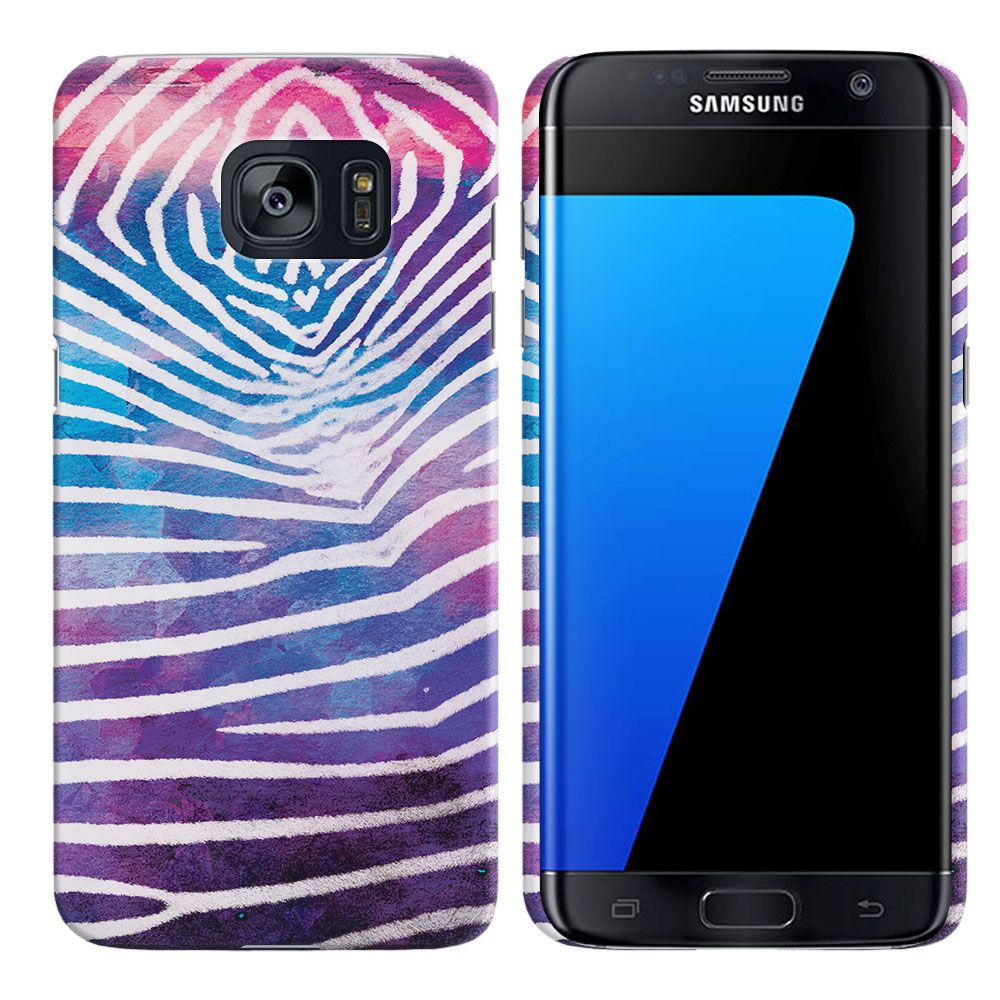 Samsung Galaxy S7 Edge G935 Zebra Stripes White Back Cover Case