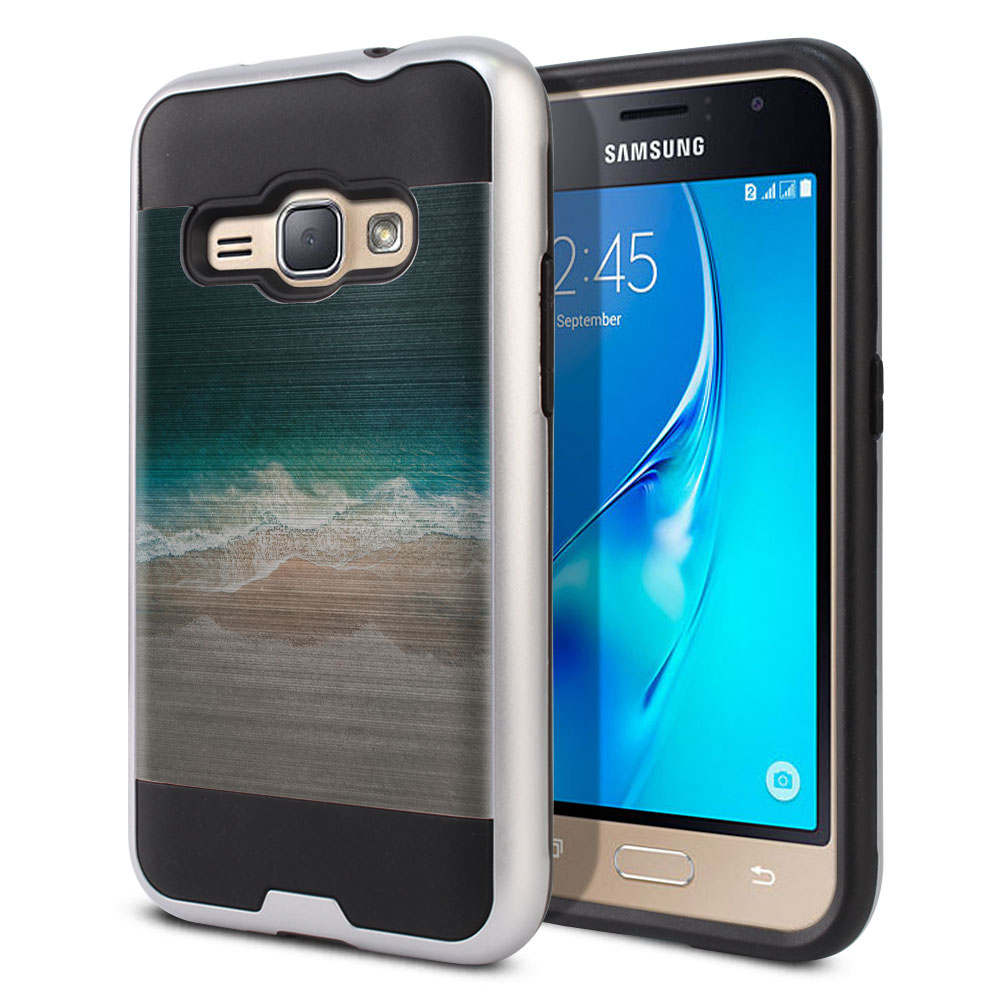 Samsung Galaxy J1 J120 2nd Gen 2016 Hybrid Fusion Brushed Sandy Beach Protector Cover Case