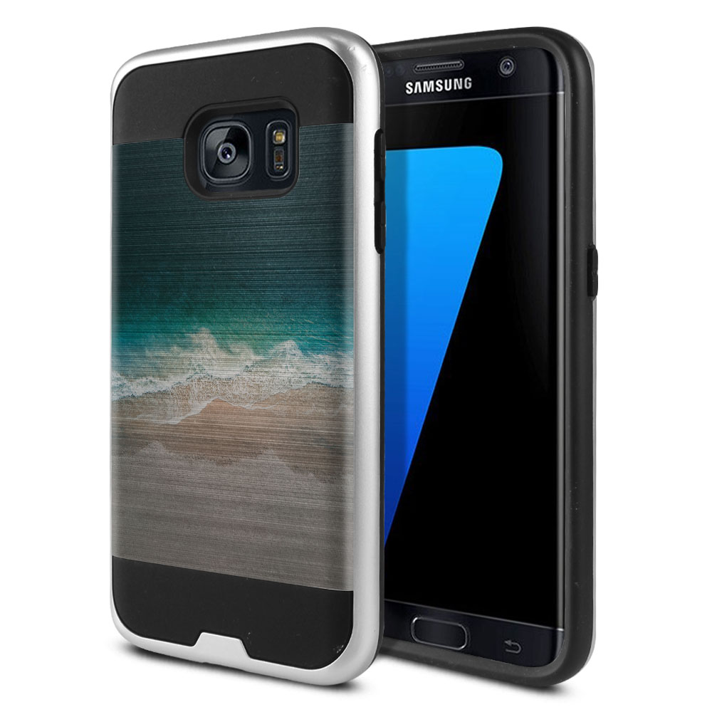 Samsung Galaxy S7 G930 Hybrid Fusion Brushed Sandy Beach Protector Cover Case