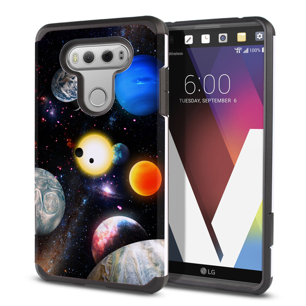 LG V20 VS995 H990 LS997 H910 H918 US996 Hybrid Slim Fusion Planet Solar System 2 Protector Cover Case
