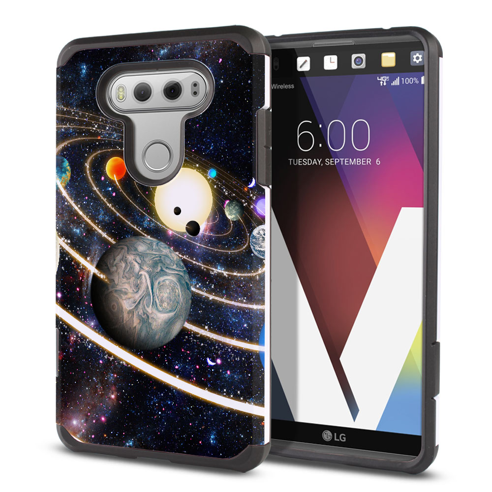 LG V20 VS995 H990 LS997 H910 H918 US996 Hybrid Slim Fusion Rings of Solar System Protector Cover Case