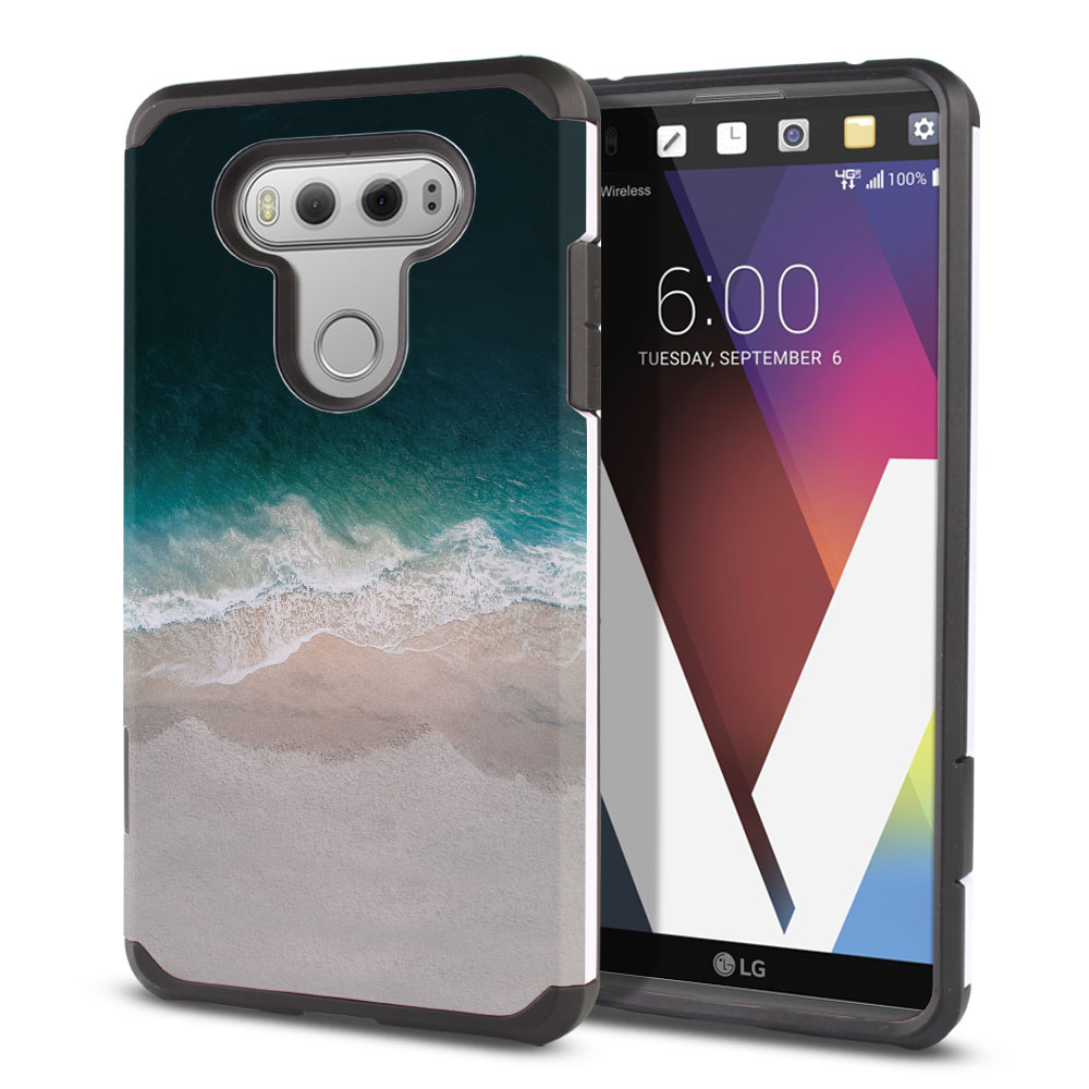 LG V20 VS995 H990 LS997 H910 H918 US996 Hybrid Slim Fusion Sandy Beach Protector Cover Case
