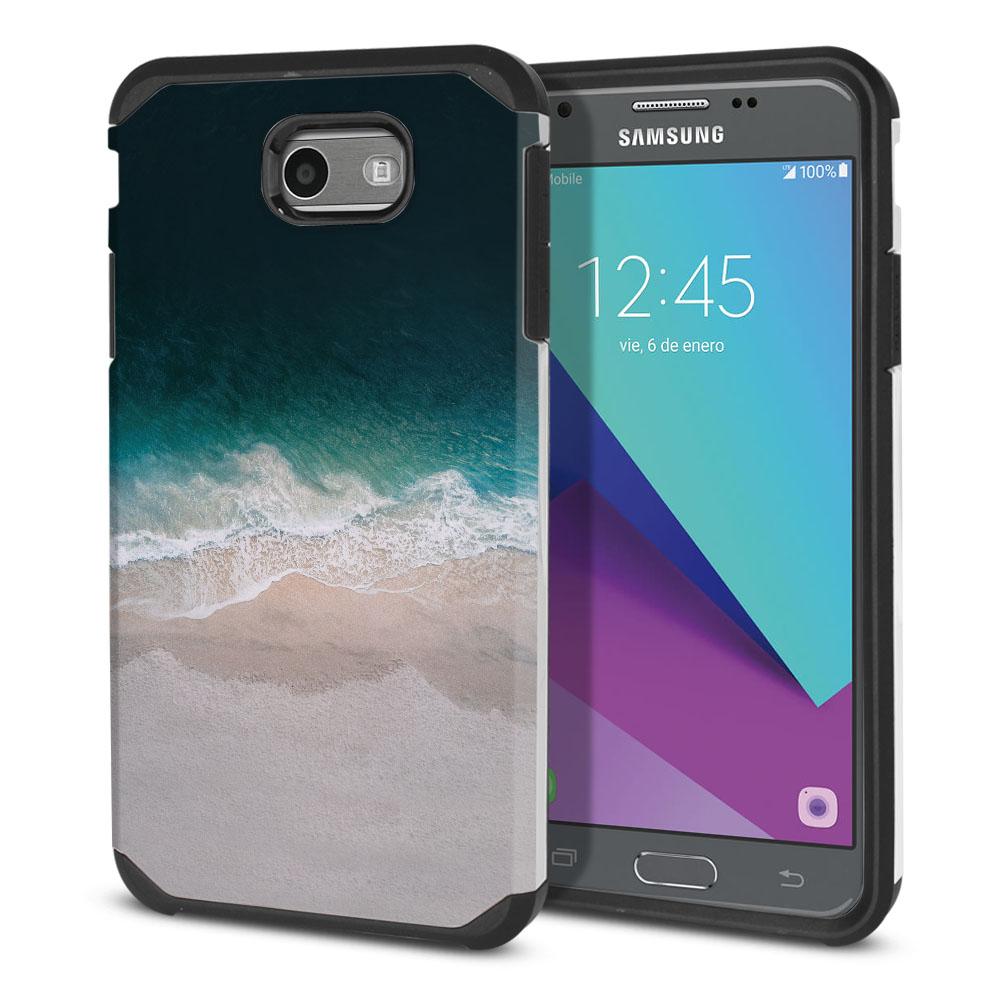 Samsung Galaxy J3 Emerge J327 2017 2nd Gen Hybrid Slim Fusion Sandy Beach Protector Cover Case
