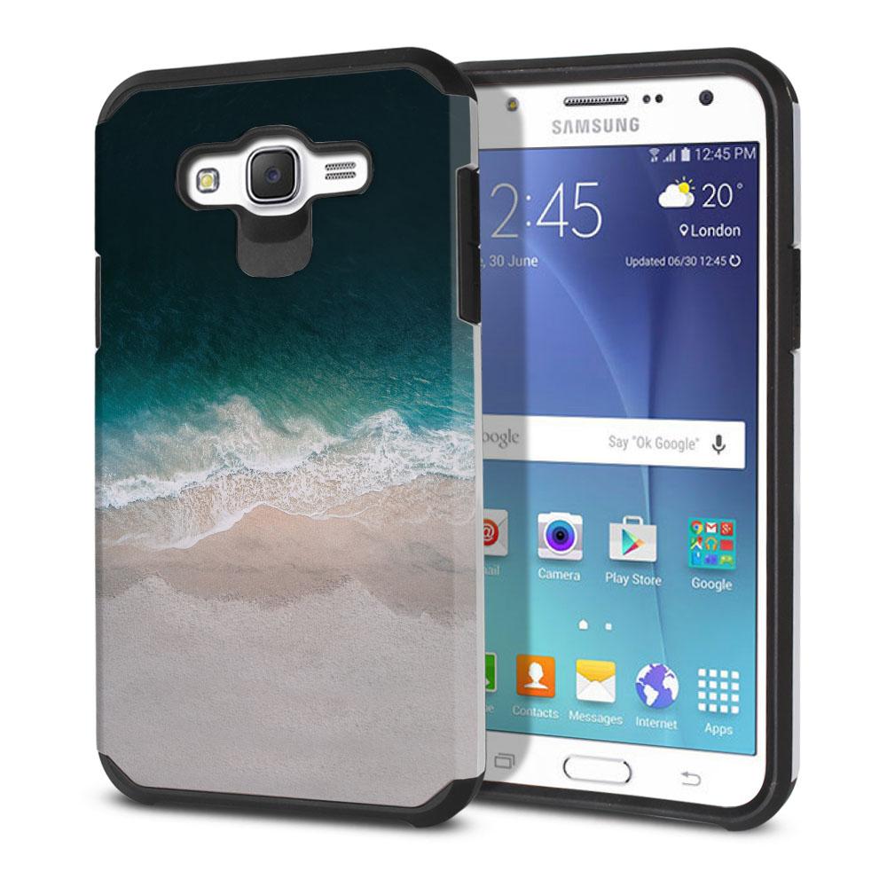 Samsung Galaxy J7 J700 Hybrid Slim Fusion Sandy Beach Protector Cover Case