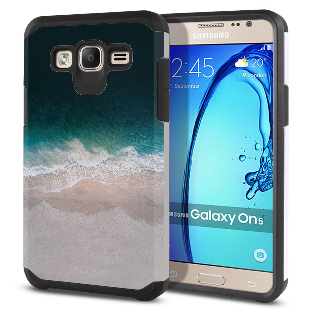 Samsung Galaxy On5 G550 G500 Hybrid Slim Fusion Sandy Beach Protector Cover Case