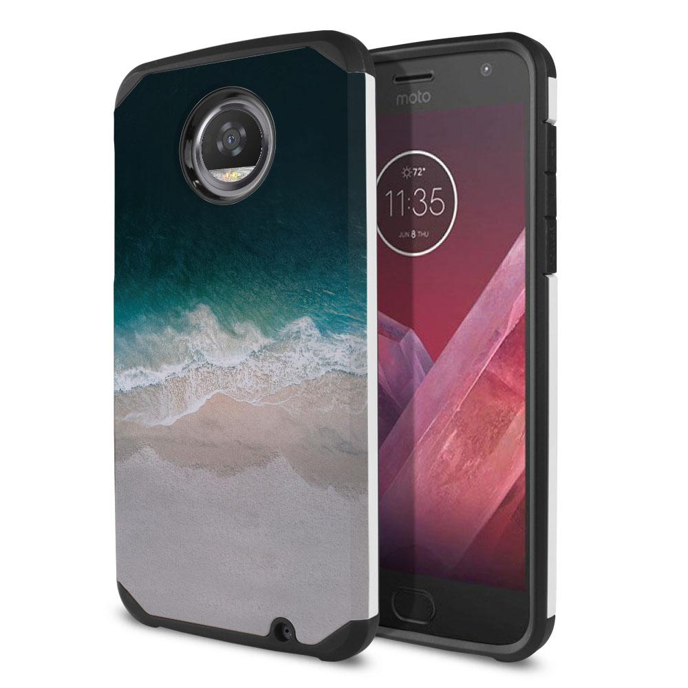 Motorola Moto Z2 Play 2nd Gen 2017 Hybrid Slim Fusion Sandy Beach Protector Cover Case