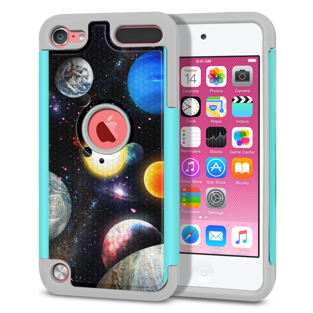 Apple iPod Touch 6 (6th Generation) Texture Hybrid Planet Solar System 2 Protector Cover Case