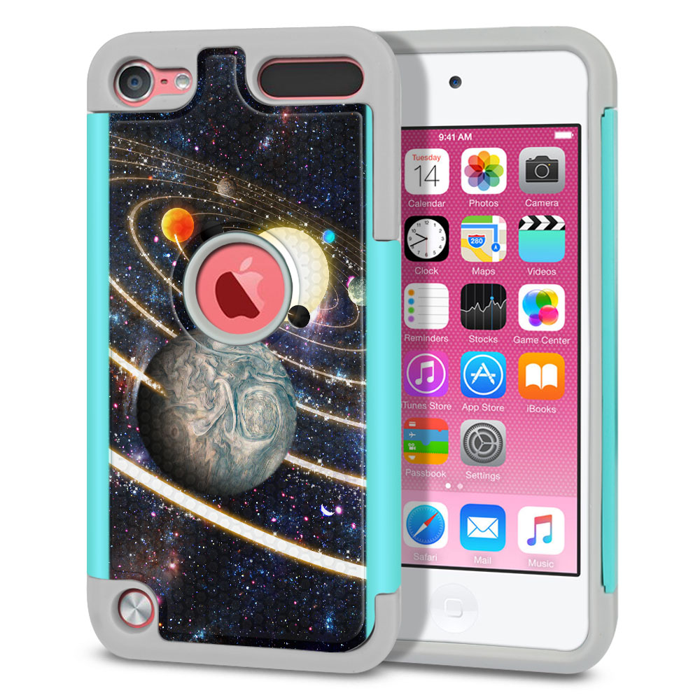 Apple iPod Touch 6 (6th Generation) Texture Hybrid Rings of Solar System Protector Cover Case