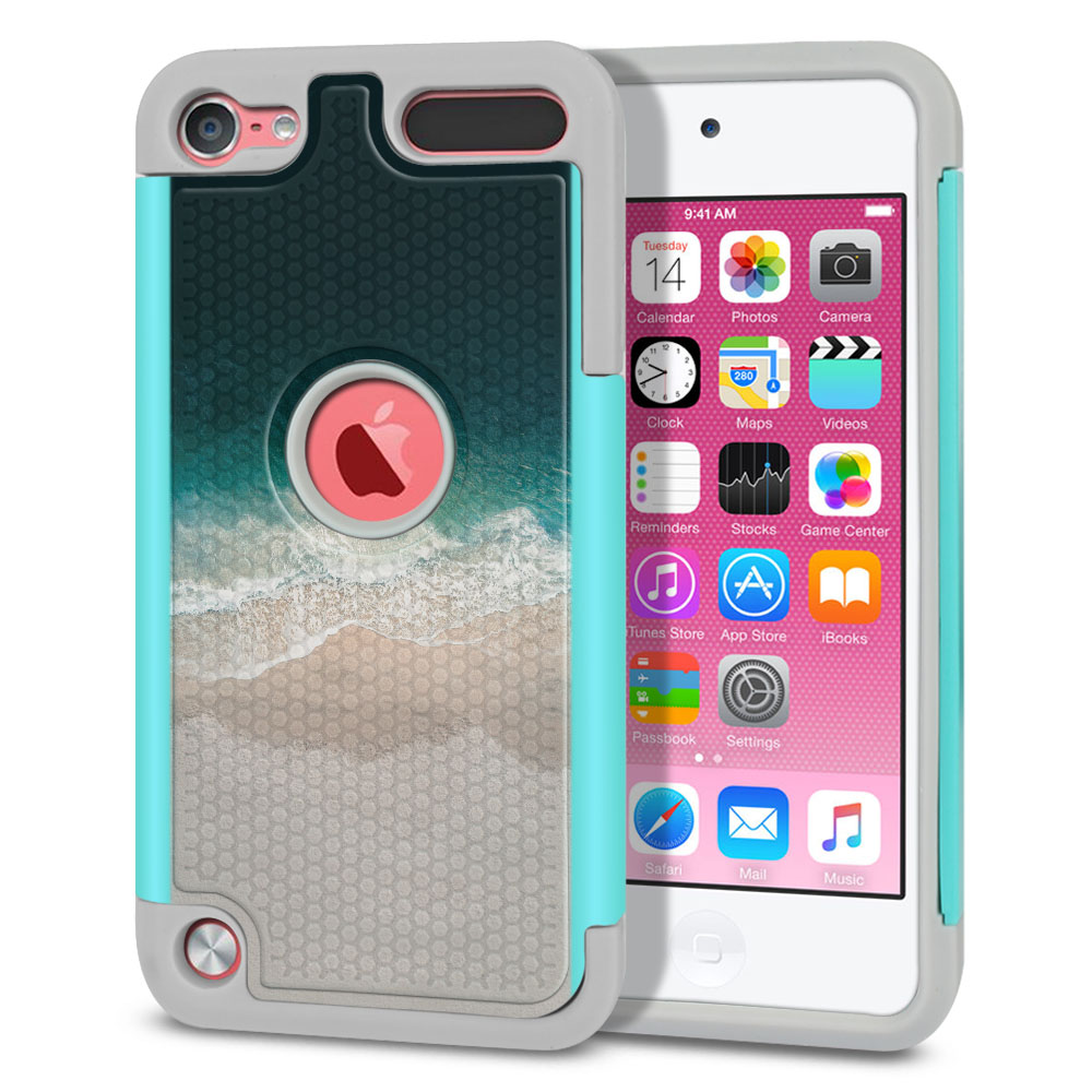 Apple iPod Touch 6 (6th Generation) Texture Hybrid Sandy Beach Protector Cover Case