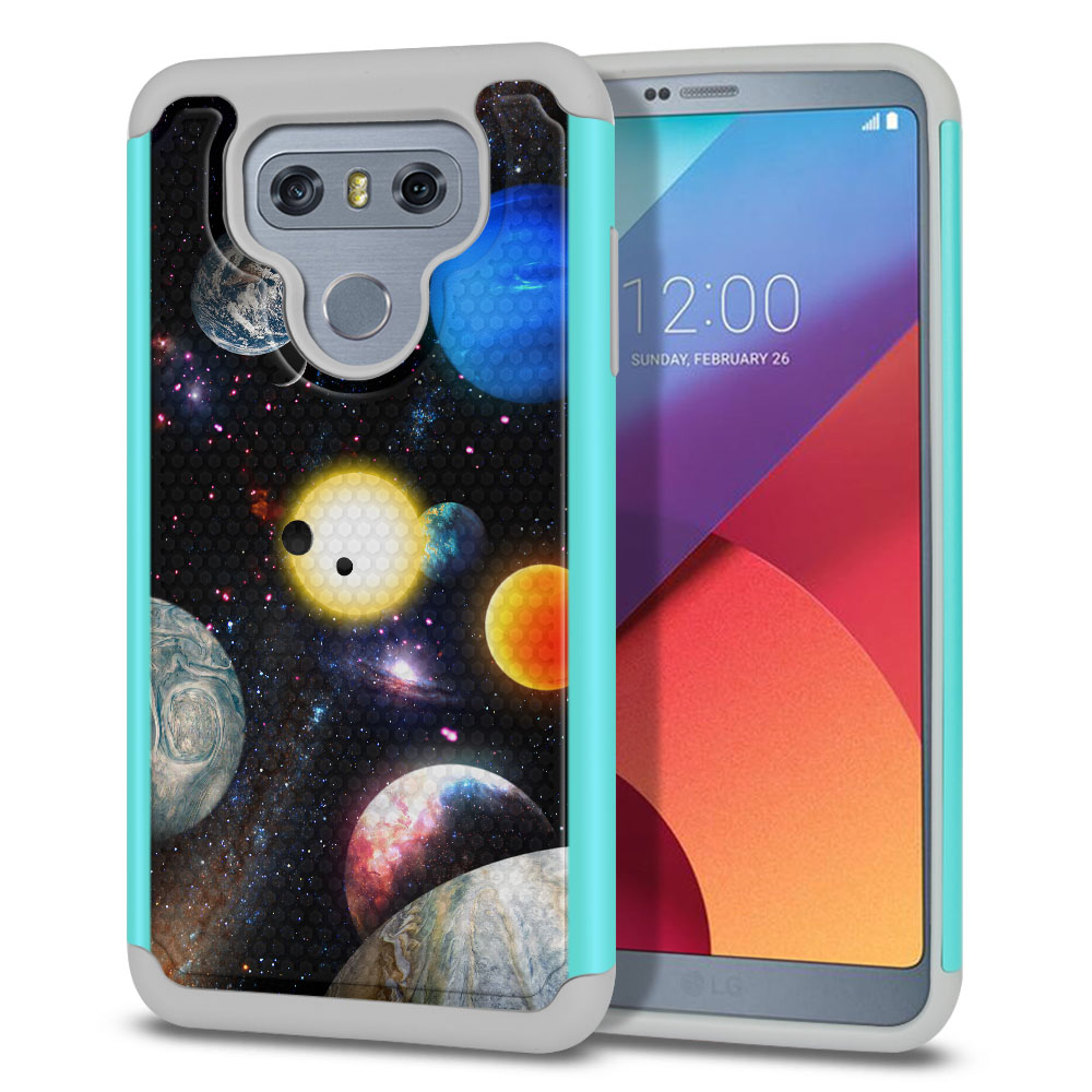 LG G6 H870 Texture Hybrid Planet Solar System 2 Protector Cover Case