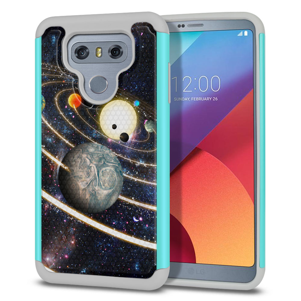 LG G6 H870 Texture Hybrid Rings of Solar System Protector Cover Case