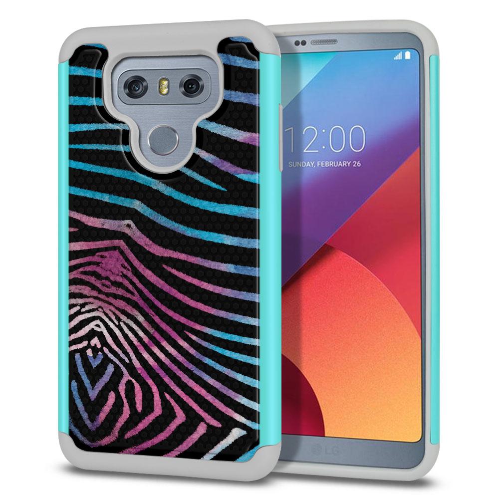 LG G6 H870 Texture Hybrid Zebra Stripes Black Protector Cover Case