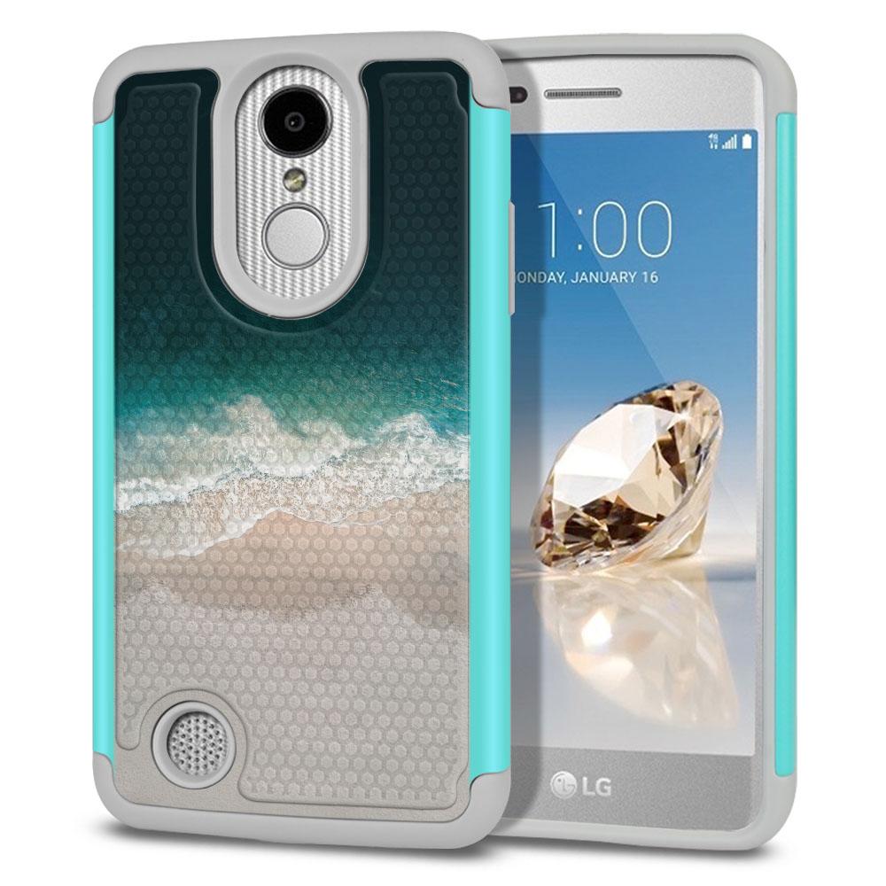LG Aristo MS210 LV3 K8 (2017)/ Phoenix 3 M150 Texture Hybrid Sandy Beach Protector Cover Case