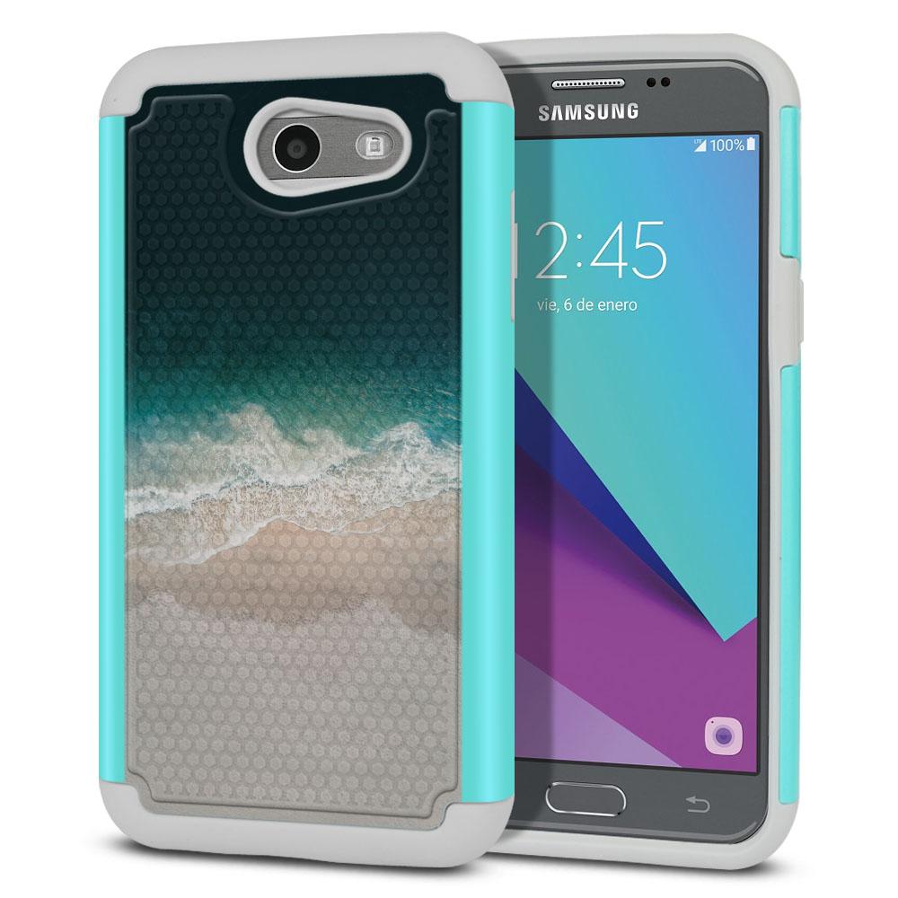 Samsung Galaxy J3 Emerge J327 2017 2nd Gen Texture Hybrid Sandy Beach Protector Cover Case