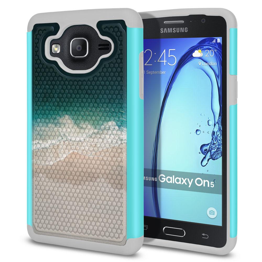 Samsung Galaxy On5 G550 G500 Texture Hybrid Sandy Beach Protector Cover Case