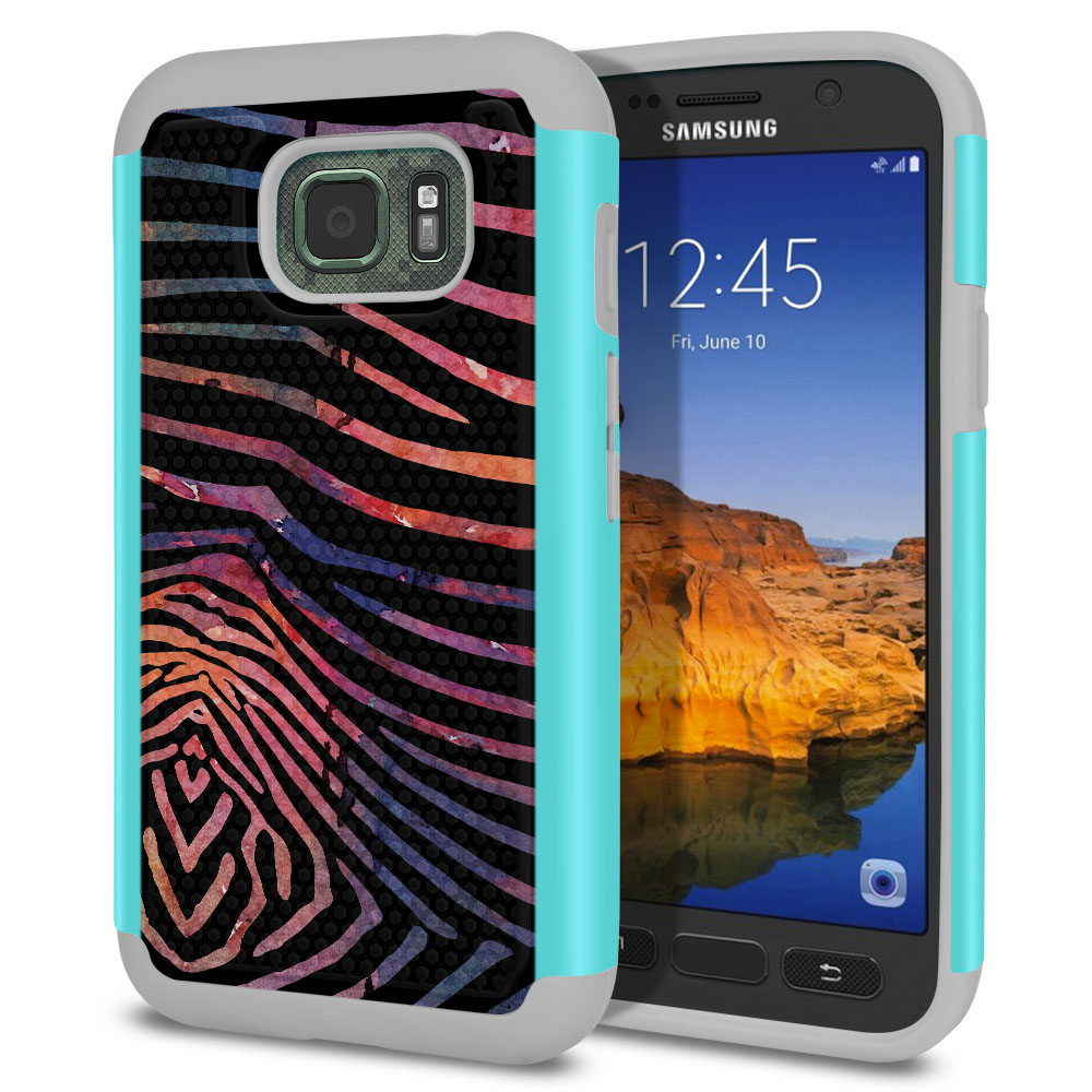 Samsung Galaxy S7 Active G891 Texture Hybrid Zebra Stripes Dusk Protector Cover Case